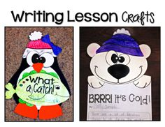 SUPER ADORABLE week long winter writing lessons with crafts! Just a part of the HUGE winter inspired ELA bundle!