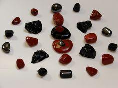Cristal mandala red Jaspis, black tourmalin,hematiet and  obsidiaan.