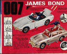 Catalogue Corgi - 007 James Bond, Toyota 2000 et Aston Martin Vintage Toys 1960s, Retro Toys, 1960s Toys, Vintage Ads, Aston Martin, Toyota, Childhood Toys, Childhood Memories, Gi Joe