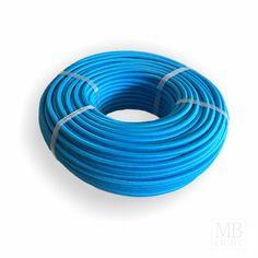 Textilkabel Litzenkabel 3x 0,75 H03VV-F textilummantelt RAL 5015 blau