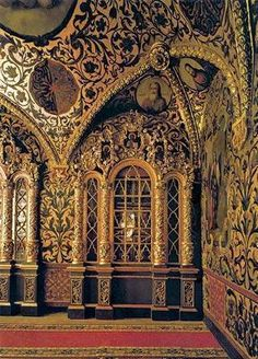 Praying Room of the Terem Palace, Moscow Kremlin, Russia Russian Architecture, Historical Architecture, Beautiful Architecture, Architecture Details, Gothic Architecture, Ancient Architecture, Beautiful Castles, Beautiful Buildings, Beautiful Places