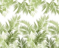 Jungle Leaves Wall Panel A large palm leaf design in shades of green. The design…