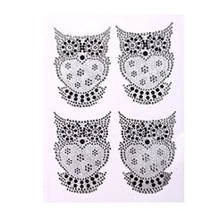 CraftbuddyUS CB029 4 x Self Adhesive Stick on OWL Glitter and Diamante Rhinestone Owl Gems ** Visit the image link more details.