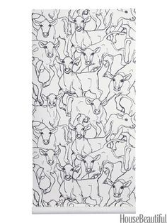 Iltavilli: A new look for country? The inquiring eyes in this sketch-like print of bovines want to know.