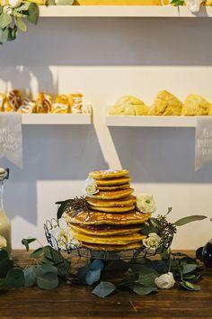 Brunch Morning Wedding ~ Sunday Kind of Love.  Pancakes for wedding cake....yes!!!