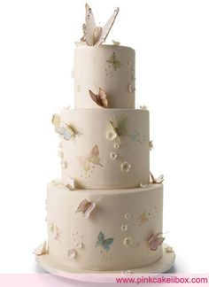 Bridal Guide – Butterfly Wedding Cake by Pink Cake Box