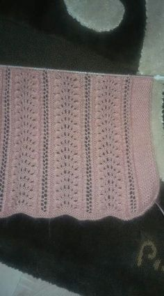 Elegantly Simple Baby Blanket pattern by Jackie Erickson-S Baby Knitting Patterns, Ladies Cardigan Knitting Patterns, Knitting For Kids, Lace Knitting, Knitting Stitches, Stitch Patterns, Crochet Patterns, Diy Crafts Knitting, Crochet Baby Sweaters