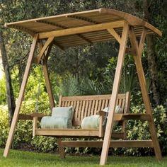 Teak Swing Outdoor Bench