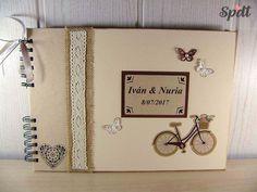 Libro de firmas para boda rústico, libro rústico, libro de firmas vintage