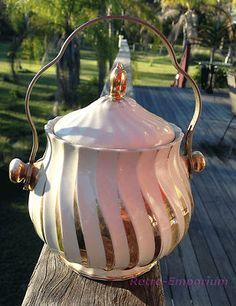 Vintage Sadler England Ceramic Cream Gold Biscuit Barrel Cookie Jar 0249EE | eBay