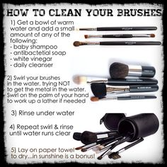 Tutorial on how to clean your Younique brushes! If you're going to use high quality brushes it's important to look after them properly so they last longer and are clean!