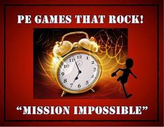 """This lesson plan and diagram is for a large group physical education class game called """"Mission Impossible"""". It is a fast paced, high energy and extremely fun game for students of all ages."""
