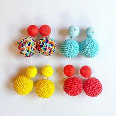 Unique Earrings, Bead Earrings, Earrings Handmade, Crochet Earrings, Handmade Jewelry, Boho Jewelry, Beaded Jewelry, Kawaii Jewelry, Beading Projects