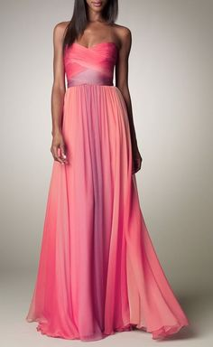 Pink & Purple Strapless Dress