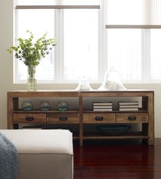 Angora Reclaimed Wood Rustic Media Console with Drawers | Zin Home