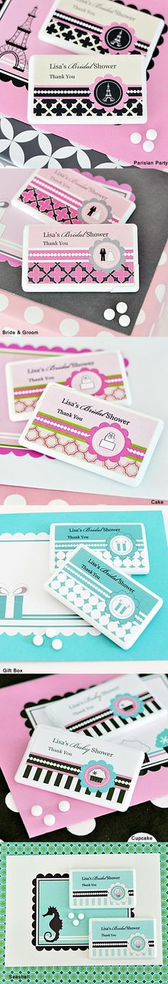 Match Your Theme Contemporary-Design Personalized Mint Boxes