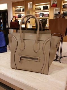 Celine mini luggage tote in Dune