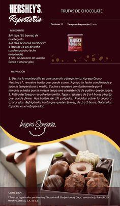 #Hersheys #Chocolate #InspiraSonrisas #Repostería #Postres #Receta #DIY #Bakery #Trufas #Regalo