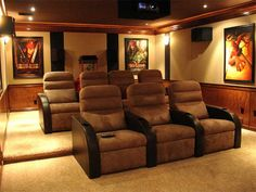 Awesome Movie Room Ideas | Cool Cinema Theatre Decor in House