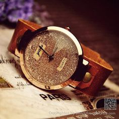 Women's Leather Wrist Watch W0109 by WatchGraceful on Etsy, $18.99