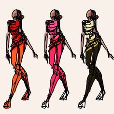 Fashion illustration sketch design drawing digital graphic doodle illustrator