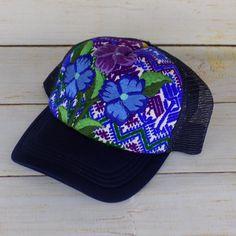 8a1f522baaf Women s Embroidered Mexican Baseball Cap Trucker Hat Handmade Bohemian Chic   Handmade  TruckerHatBaseballCapEmbroideredHatMexicanHat Embroidered Hats