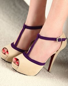 not a fan of peep toes, but I like the contrasting trim/t-strap