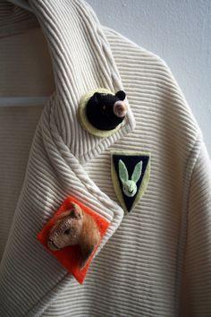 $18 animal brooch #etsy #horse #rabbit #bear #animals #handmade #pin #brooch #jewelry #accessory #style #fashion #cute #adorable @Etsy!