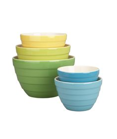 Crate and Barrel 5-Piece Parker Bowl Set #gifts