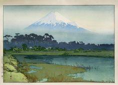 Fuji - First Light of the Sun, 1926 / Hiroshi Yoshida