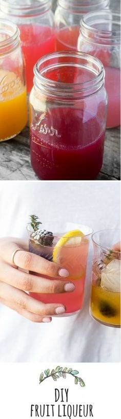 How to Make Homemade Fruit Liqueur --- this quick and easy method makes a beautiful, vibrantly flavored liqueur that's ready to drink in 24 hours --- cheers! theviewfromgreatisland.com