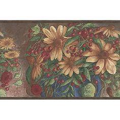Berry And Sunflower Motif. Wallpaper BordersSunflowersBerryWallpapersSample  ...