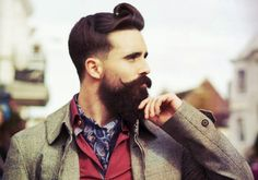 Hot bearded guy with a silk cravat and great hair