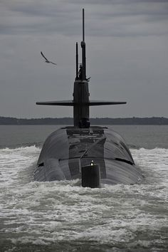 KINGS BAY, Ga. (Jan. 11, 2011) The Ohio-class ballistic missile subarine USS Alaska (SSBN 732) approaches Naval Submarine Base Kings Bay, Ga., after successfully completing sea trials. (U.S. Navy photo by Mass Communication Specialist 1st Class James Kimber/Released)