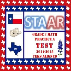 STAAR Math Grade 3 Practice A TESTIt is ready to be set up in DMAC. Dual Coding. STAAR Test Prep. Answer Key provided with TEKS coding included. Results can be disaggregated to drive tutorial needs. Look at Test B as well.