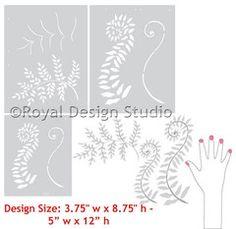 Flower Stencils-Curly Ferns Floral & Vine