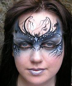 Halloween face paint mask