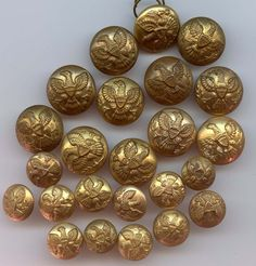 SOLD:   24 Army general service uniform buttons 1854 through 1901 coat and cuff