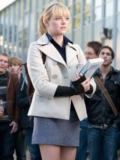 07d682f65d Jacket also loved all of Emma Stone  ponytails as Gwen Stacy in Spiderman!