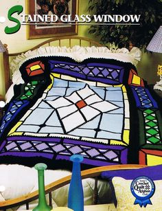 Stained Glass Window Annie's Crochet Afghan Pattern Instructions | eBay