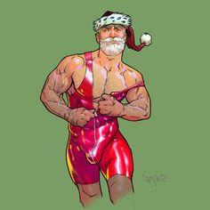 - Naughty Santa, Jolly Holiday, Happy Soul, Fantasy, Gay Art, Hairy Men, Male Beauty, Art Google, Comic Art