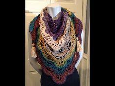Crochet Shawl, Knit Crochet, Crochet Videos, Crochet Accessories, Shawls And Wraps, Plaid Scarf, Free Pattern, Crochet Patterns, Stitch
