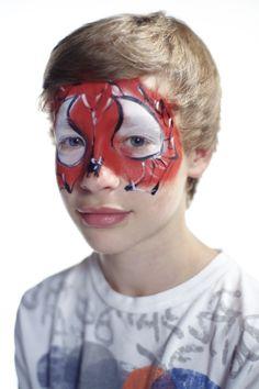 Spiderman, et av de mest populære guttedesignene til ansiktsmaler.no