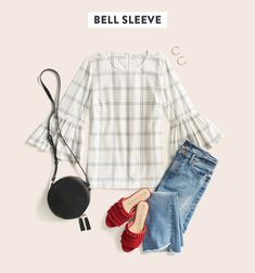 Bell Sleeves for Spring // Spring Top Trends from Stitch Fix Stitch Fix Blog, Stitch Fit, Stitch Fix Stylist, Simple Outfits, Cute Outfits, Pretty Outfits, Stitch Fix Outfits, It Goes On, Fashion Outfits