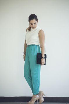 Silk Aqua Pants | Dream Life Factory