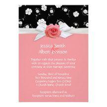 Luxury  Pink Garden Rose Damask Wedding Invite