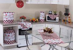 Jogo de cozinha em tecido oxford