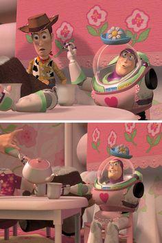 Tips for your next tea party. Disney Nerd, Disney Fan Art, Disney Pixar, Walt Disney, Toy Story 1995, Toy Story Movie, Disney Toys, Disney Movies, Festa Toy Story
