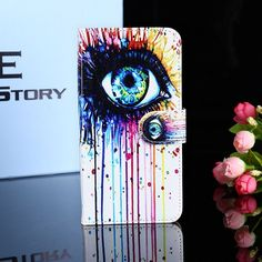 Luxury Painted PU Leather Cases For ZTE Blade X3 D2 T620 Covers Card Holders Anti-Scratch Phone Tpu Shell Wallet Flip Holster