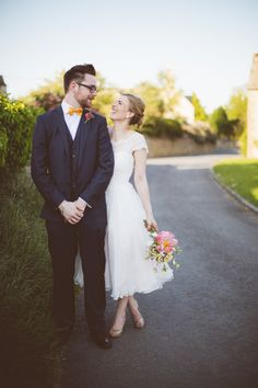 Paper Cranes and A Fifties Style Frock, For A Colourful Spring Time Village Hall Wedding | Love My Dress® UK Wedding Blog